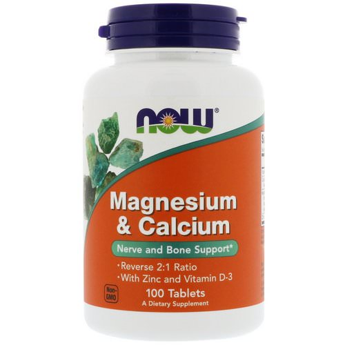 Now Foods, Magnesium & Calcium, Reverse 2:1 Ratio with Zinc and Vitamin D-3, 100 Tablets Review