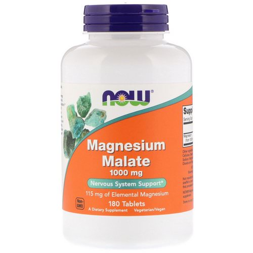 Now Foods, Magnesium Malate, 1,000 mg, 180 Tablets Review