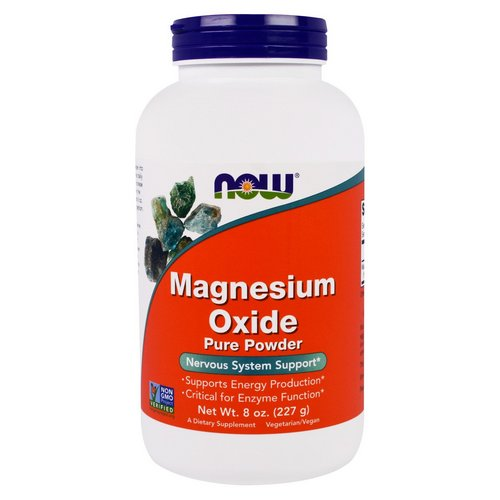 Now Foods, Magnesium Oxide Pure Powder, 8 oz (227 g) Review