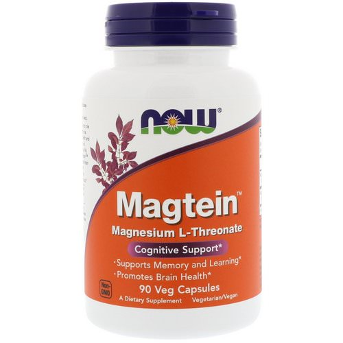 Now Foods, Magtein, Magnesium L-Threonate, 90 Veg Capsules Review