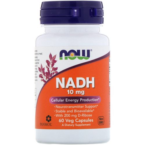 Now Foods, NADH, 10 mg, 60 Veg Capsules Review