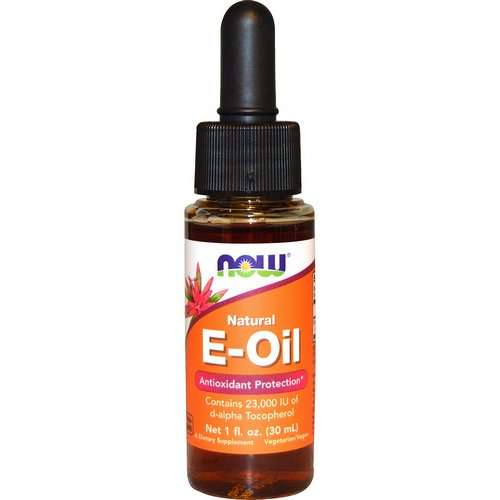 Now Foods, Natural E-Oil, Antioxidant Protection, 1 fl oz (30 ml) Review