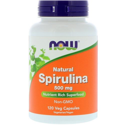 Now Foods, Natural Spirulina, 500 mg, 120 Veg Capsules Review