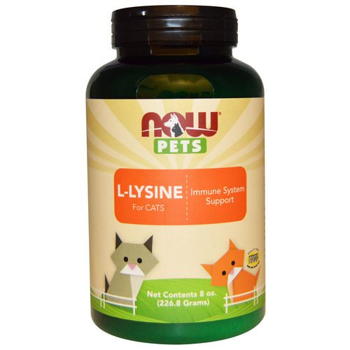Now Foods, Now Pets, L-Lysine for Cats, 8 oz (226.8 g) Review