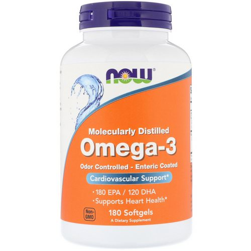 Now Foods, Omega-3, 180 Softgels Review