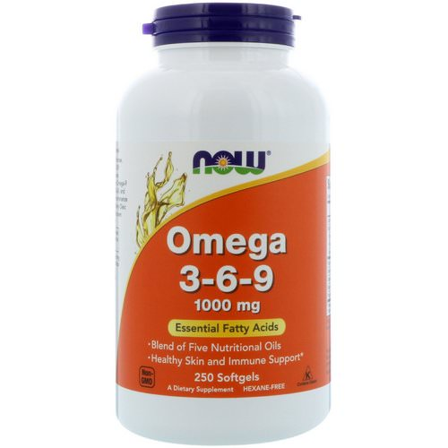 Now Foods, Omega 3-6-9, 1000 mg, 250 Softgels Review