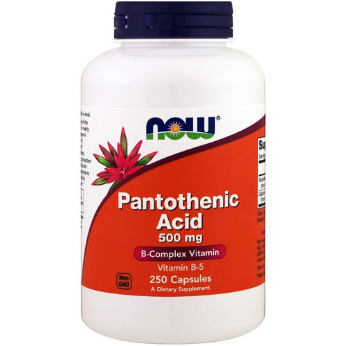 Now Foods, Pantothenic Acid, 500 mg, 250 Capsules Review