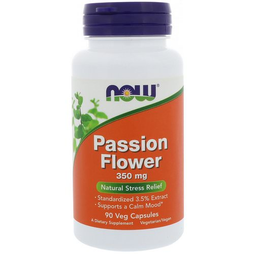 Now Foods, Passion Flower, 350 mg, 90 Veg Capsules Review