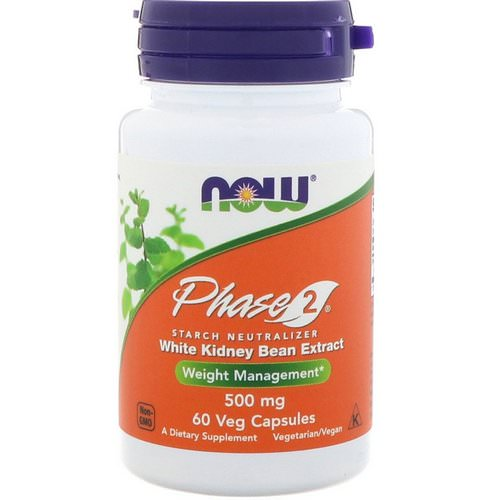 Now Foods, Phase 2, Starch Neutralizer, 500 mg, 60 Veg Capsules Review