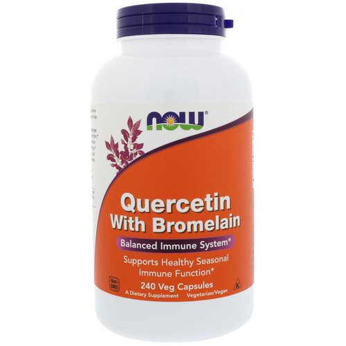 Now Foods, Quercetin with Bromelain, 240 Veg Capsules Review