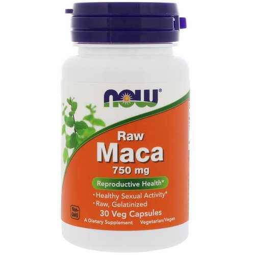 Now Foods, Raw Maca, 750 mg, 30 Veg Capsules Review