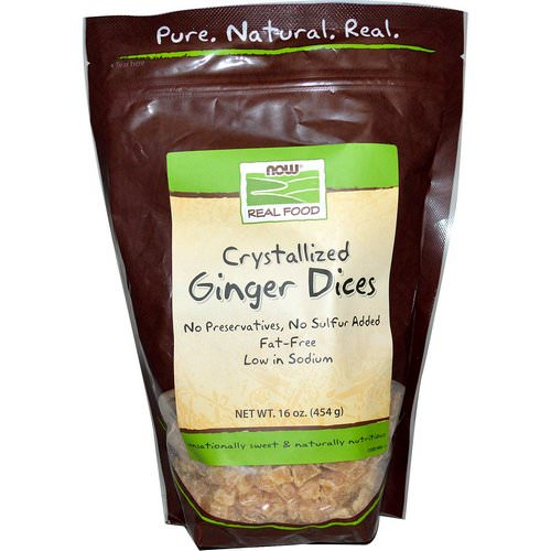 Now Foods, Real Food, Crystallized Ginger Dices, 16 oz (454 g) Review
