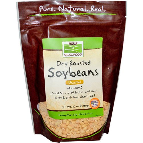 Now Foods, Real Food, Dry Roasted Soybeans, Unsalted, 12 oz (340 g) Review