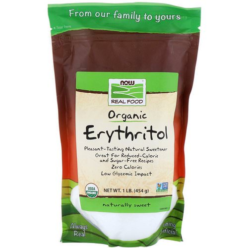 Now Foods, Real Food, Organic Erythritol, 1 lb (454 g) Review