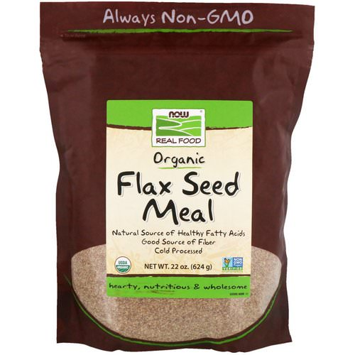Now Foods, Real Food, Organic, Flax Seed Meal, 1.4 lbs (624 g) Review