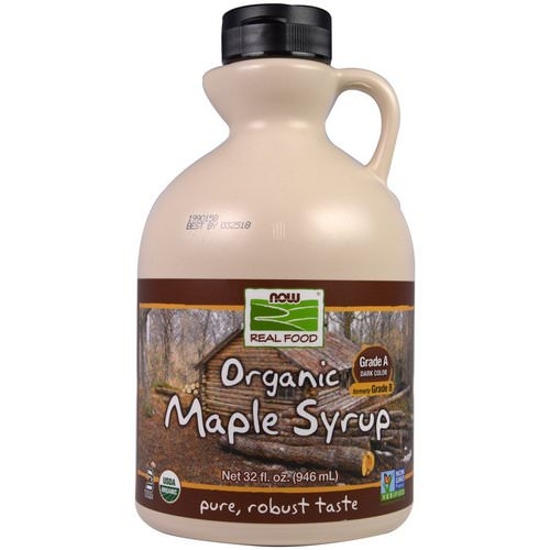 Now Foods, Real Food, Organic Maple Syrup, Grade A, Dark Color, 32 fl oz (946 ml) Review