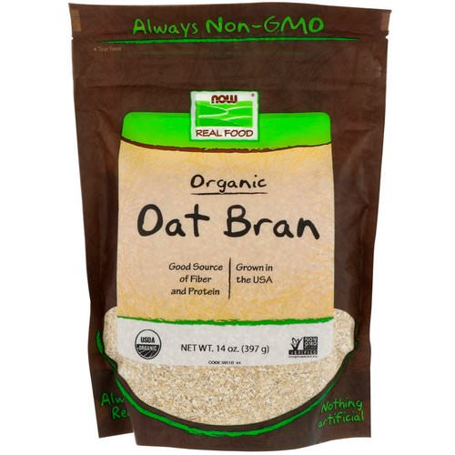 Now Foods, Real Food, Organic Oat Bran, 14 oz (397 g) Review