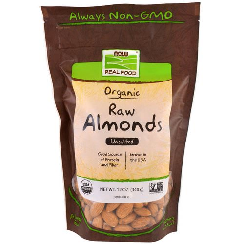 Now Foods, Real Food, Organic Raw Almonds, Unsalted, 12 oz (340 g) Review