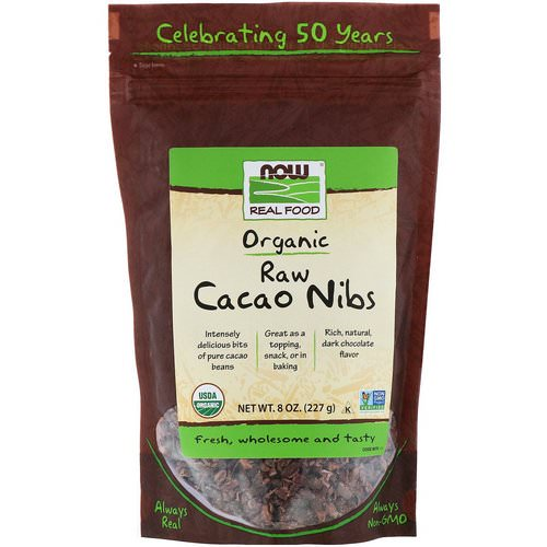 Now Foods, Organic, Raw Cacao Nibs, 8 oz (227 g) Review
