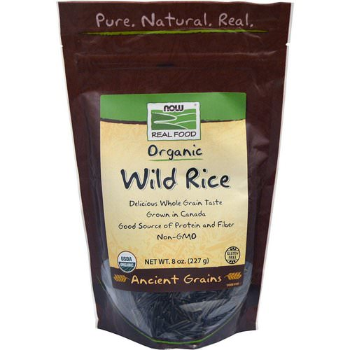 Now Foods, Real Food, Organic, Wild Rice, 8 oz (227 g) Review