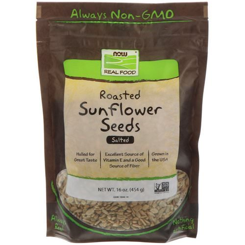 Now Foods, Real Food, Roasted Sunflower Seeds, Salted, 16 oz (454 g) Review