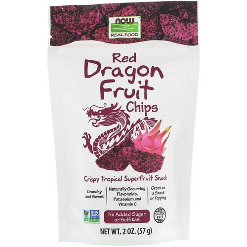 Now Foods, Real Foods, Red Dragon Fruit Chips, 2 oz (57 g) Review