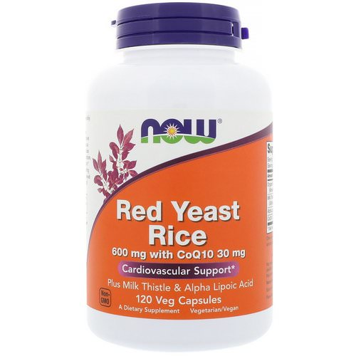 Now Foods, Red Yeast Rice, 120 Veg Capsules Review