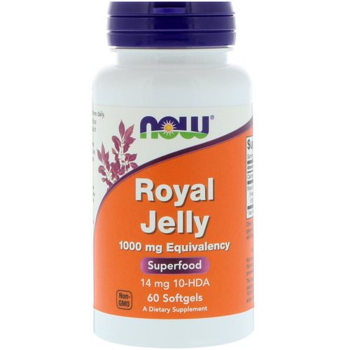 Now Foods, Royal Jelly, 1000 mg, 60 Softgels Review