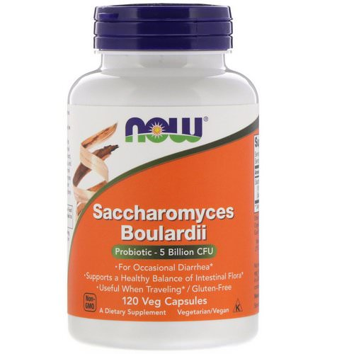 Now Foods, Saccharomyces Boulardii, 5 Billion CFU, 120 Veg Capsules Review