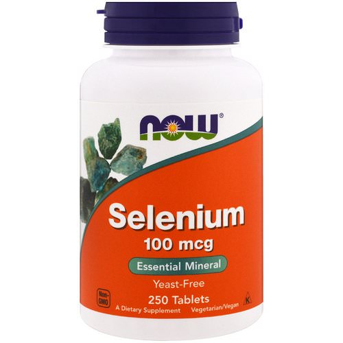 Now Foods, Selenium, Yeast Free, 100 mcg, 250 Tablets Review
