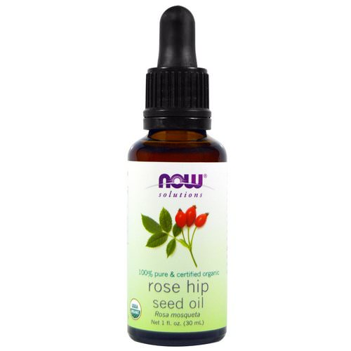 Now Foods, Solutions, Certified Organic Rose Hip Seed Oil, 1 fl oz (30 ml) Review