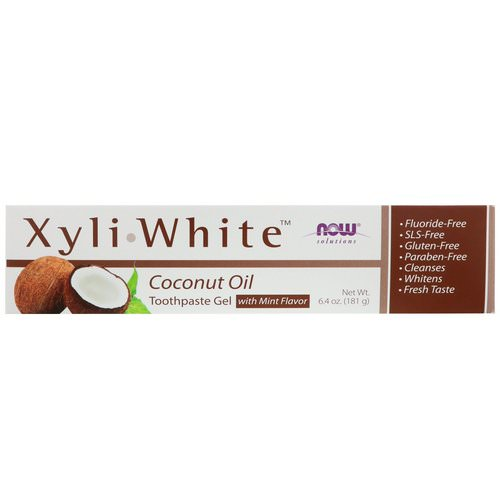 Now Foods, Solutions, XyliWhite, Toothpaste Gel, Coconut Oil, Mint Flavor, 6.4 oz (181 g) Review
