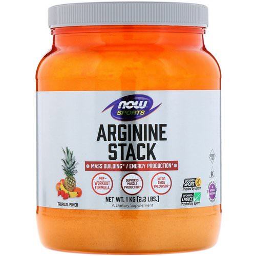 Now Foods, Sports, Arginine Stack, Tropical Punch, 2.2 lbs. (1 kg) Review
