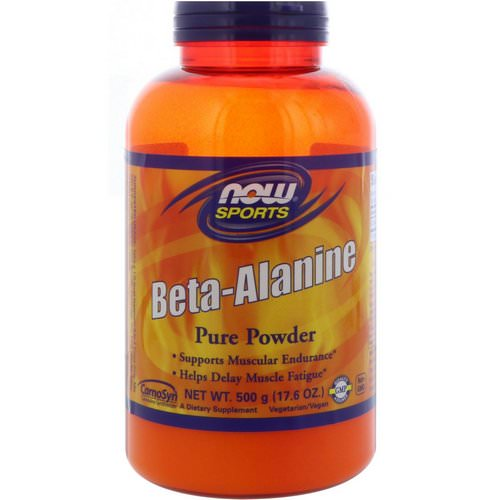 Now Foods, Sports, Beta-Alanine, Pure Powder, 17.6 oz (500 g) Review