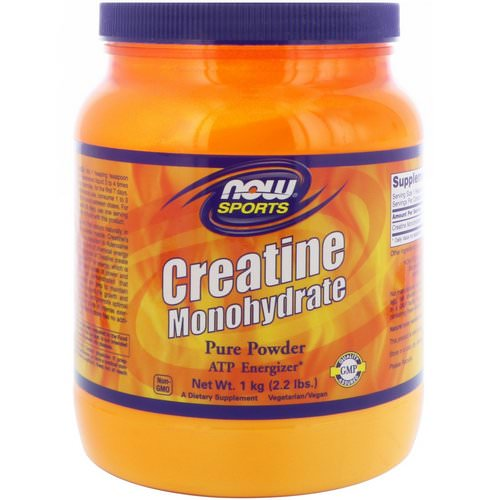 Now Foods, Sports, Creatine Monohydrate, Pure Powder, 2.2 lbs (1 kg) Review