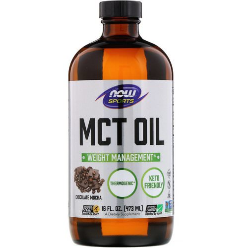 Now Foods, Sports, MCT Oil, Chocolate Mocha, 16 fl oz (473 ml) Review