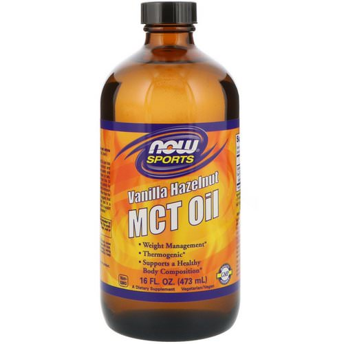 Now Foods, Sports, MCT Oil, Vanilla Hazelnut, 16 fl oz (473 ml) Review