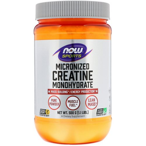Now Foods, Sports, Micronized Creatine Monohydrate, 1.1 lbs (500 g) Review