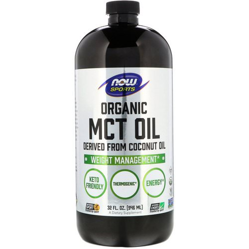 Now Foods, Sports, Organic MCT Oil, 32 fl oz (946 ml) Review