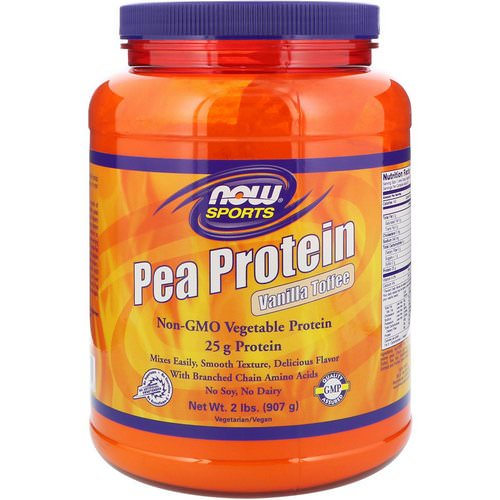 Now Foods, Sports, Pea Protein, Vanilla Toffee, 2 lbs (907 g) Review