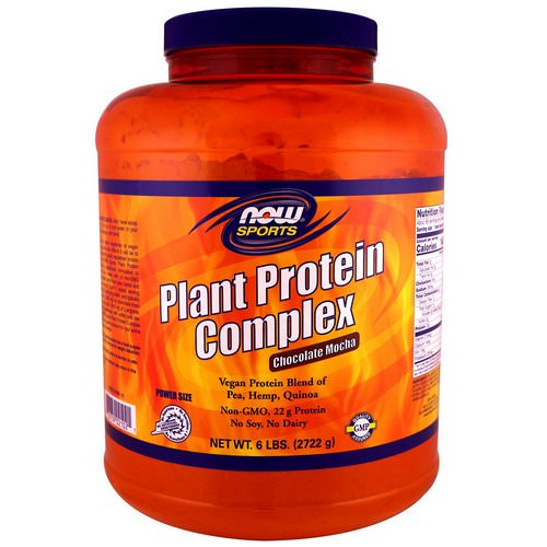Now Foods, Sports, Plant Protein Complex, Chocolate Mocha, 6 lbs. (2722 g) Review