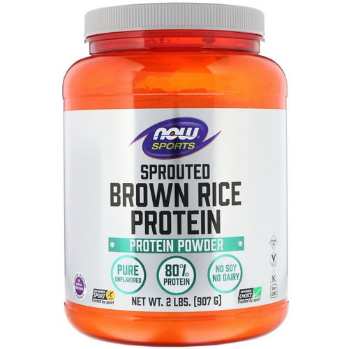 Now Foods, Sports, Sprouted Brown Rice Protein, Unflavored, 2 lbs (907 g) Review