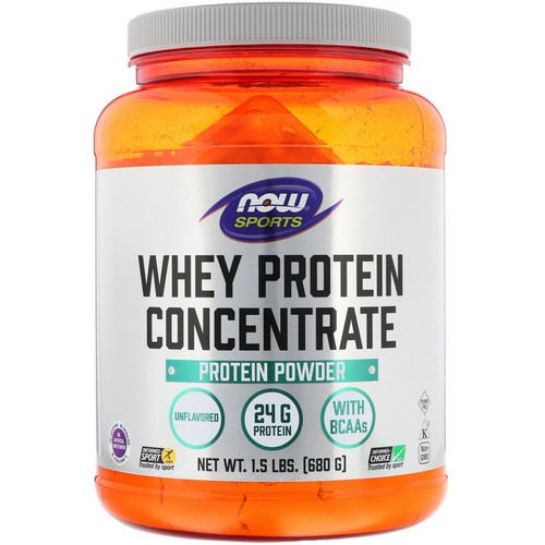 Now Foods, Sports, Whey Protein Concentrate, Unflavored, 1.5 lbs (680 g) Review