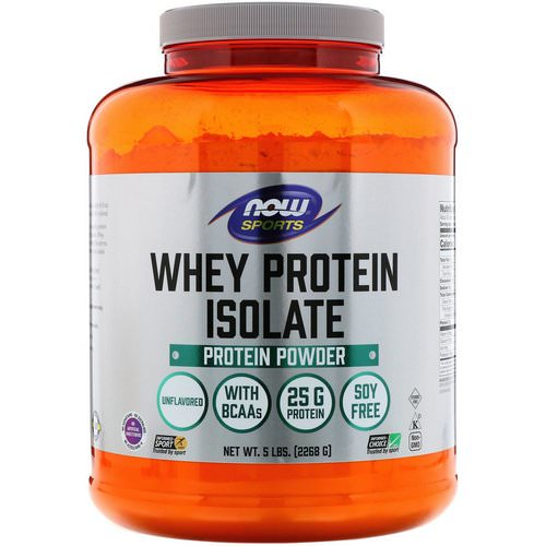Now Foods, Sports, Whey Protein Isolate, Unflavored, 5 lbs (2268 g) Review