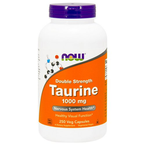 Now Foods, Taurine, Double Strength, 1,000 mg, 250 Veg Capsules Review