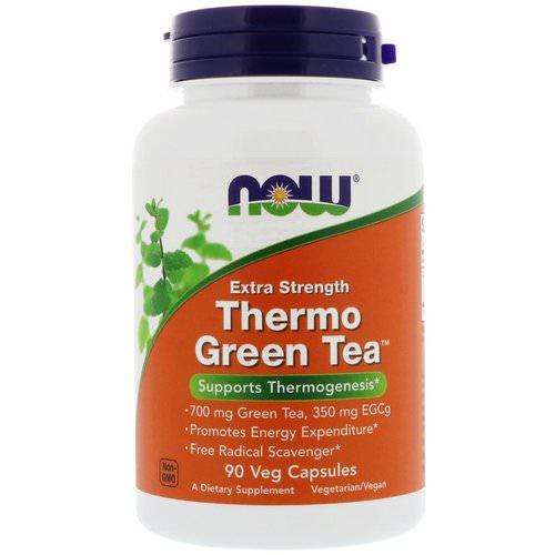 Now Foods, Thermo Green Tea, Extra Strength, 90 Veg Capsules Review