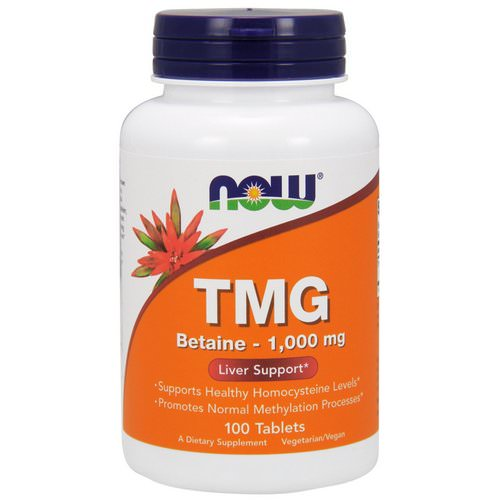 Now Foods, TMG, 1,000 mg, 100 Tablets Review