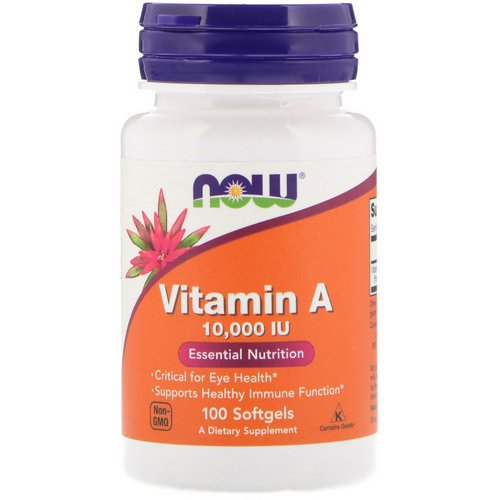 Now Foods, Vitamin A, 10,000 IU, 100 Softgels Review