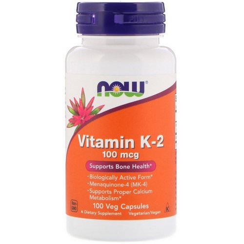 Now Foods, Vitamin K-2, 100 mcg, 100 Veg Capsules Review