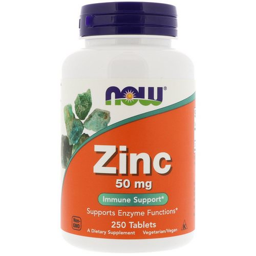 Now Foods, Zinc, 50 mg, 250 Tablets Review